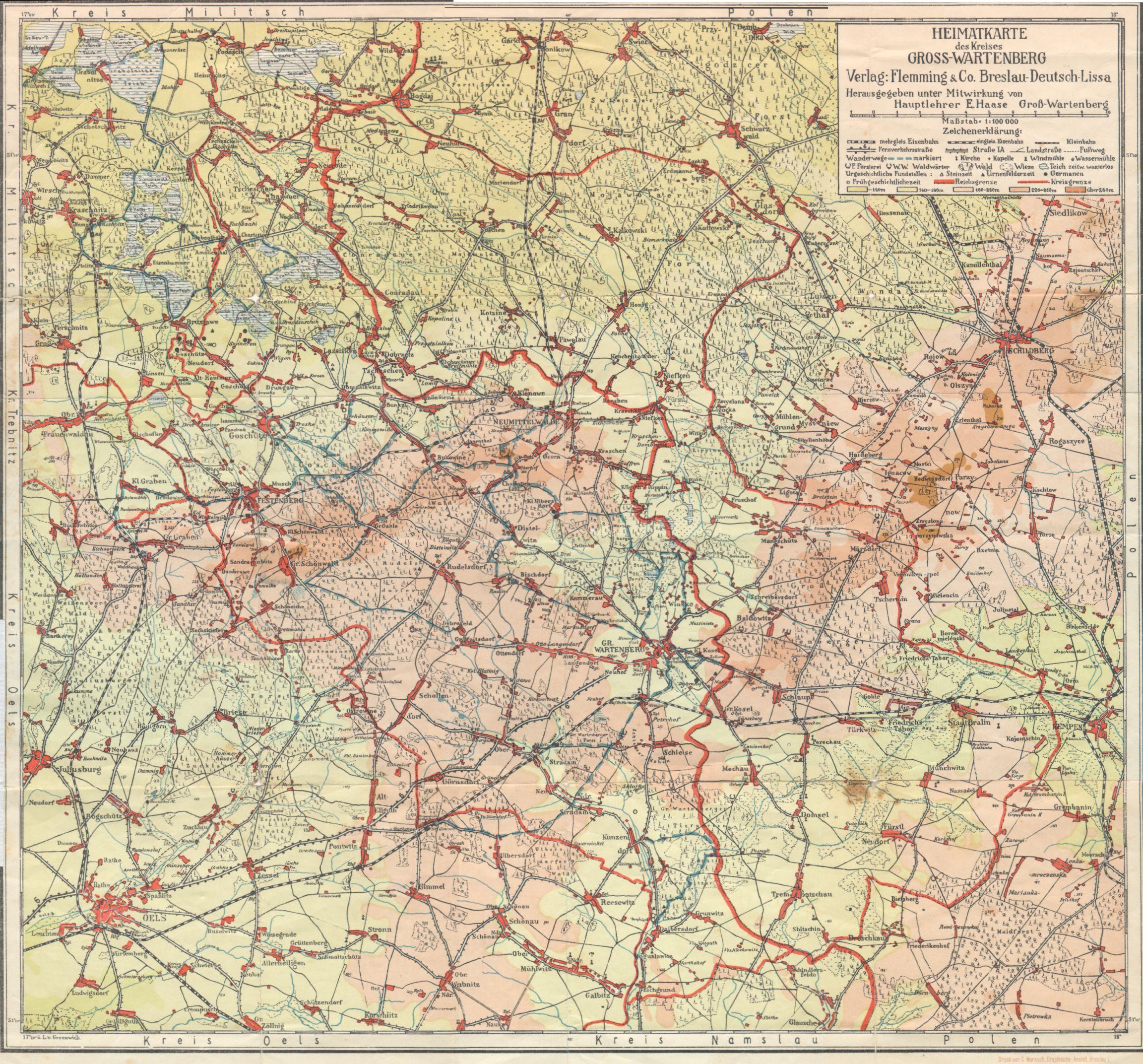 Breslau Karte 1930.Links Historische Karten Von Schlesien